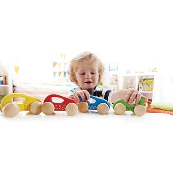 First Wooden Cars, Age 1+, Set of 8