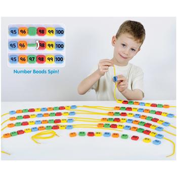0-100 Lacing Number Beads, Set