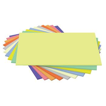 280 Micron Card, Value Assorted Card, SRA2, Pack of 5 x 10 Sheets, Assorted Colours