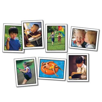 Photographic Learning Cards, Verbs: Actions, Age 3+, Set of 46