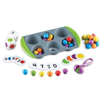 Counting & Sorting, Mini Muffin Match Up, Age 3-7, Set