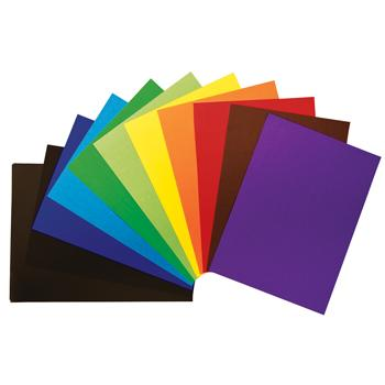 Mounting Poster Paper, School Mounting Paper, Assorted Colours, Pack of 60 Sheets