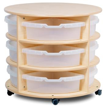 Playscapes(TM) Storage, Mobile Circular Storage Unit