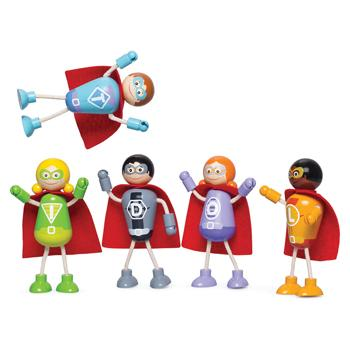 Superhero Figures, Age 3+, Set of 5 Characters