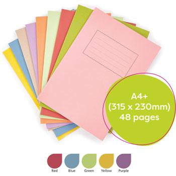 Exercise Books, Manilla Covers, A4+ (315 x 230mm), 48 Pages