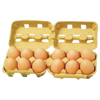 Play Food, Plastic, Eggs, Age 3+, Pack of 12