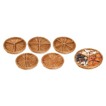 Wicker Sorting Baskets, Set of 5