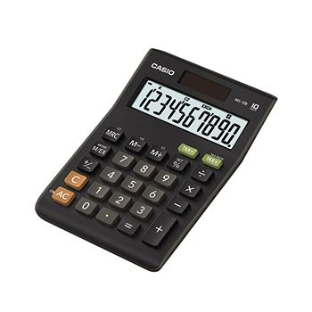 Desk Top, Dual-Powered Calculators, Casio MS-10B-S-EC, Each