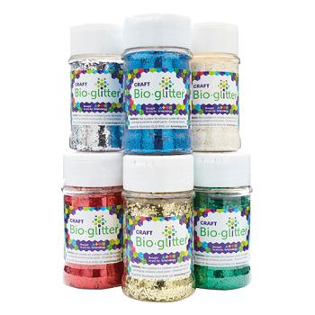 Craft Bioglitter(R), Medium Tubs, Single Colours, Tub of 60g