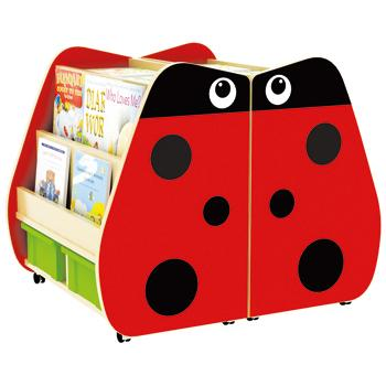 Double Sided Book Storage, Ladybird, Each