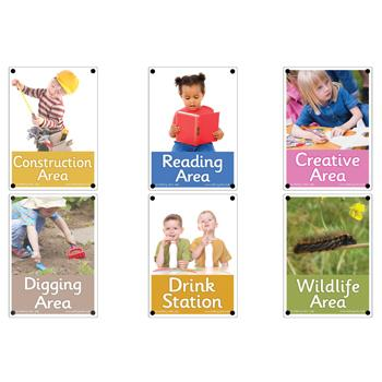 Area Signs, Set 1, Set of 6