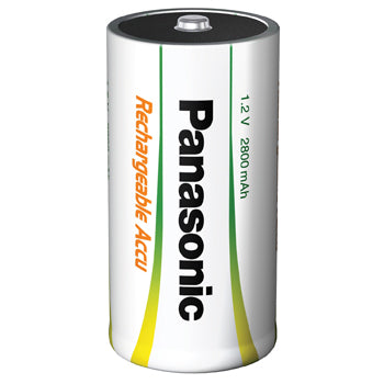 Batteries, Panasonic Accu Rechargable, (D) P20P 1.2 volts, Pack of 2