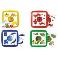 Washable Colour Plastic Puzzles, Age 3+, Set of 4