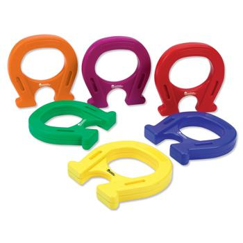 Horseshoe Magnets, Coloured Plastic, 142Mm High, Set of 6