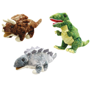 Glove Puppets, Baby Dino, Age 12 Mths+, Set of 3