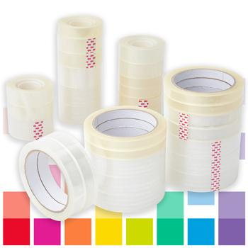 Smartbuy, Polypropylene Clear Tape, Large Core Rolls
