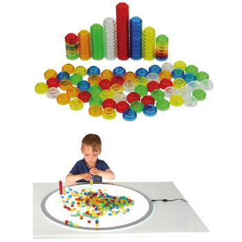 Counting & Sorting, Translucent Stackable Counters, Age 3+, Set of 500