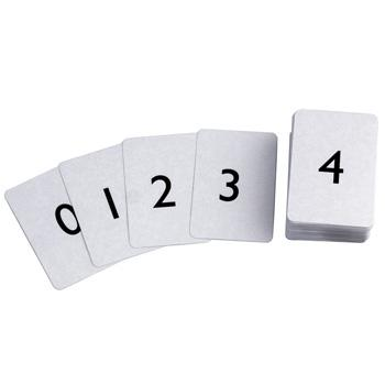 Cards - Plastic Coated, Standard Size, 58 x 88mm, Numbered, 0-100, Pack of 101