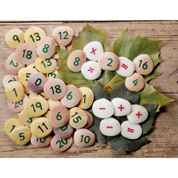 Number Pebbles Sum Building Set, Set of 50
