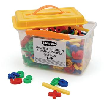 Magnetic Numbers, Multi-Coloured, Pack of 286