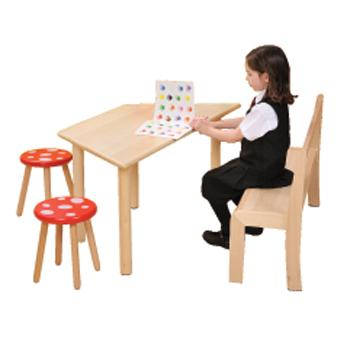 Natural Beechwood Tables, Toadstool, 310mm Seat height, Set of 2
