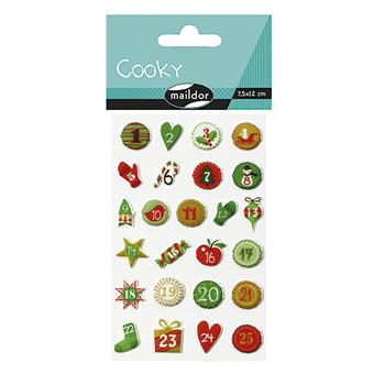 Decopatch Advent Number Stickers, Pack