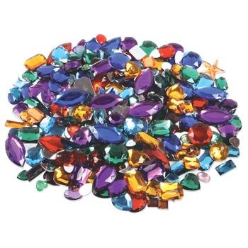 Acrylic Gemstones, Plain Backed, Pack of Approx. 450g