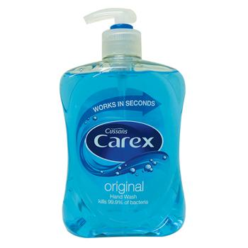 Hand Soaps - Pump Action, Cussons Carex, Light Fresh Fragrance, Family Size