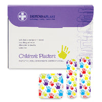 Plasters, Sterile, Individually Wrapped, Hypo-Allergenic, Waterproof, Novelty Pattern, 3 Assorted sizes, Box of 100