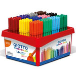 Giotto Turbo Colour, Fine Fibre Tipped Pens, Assorted, Pack of 12