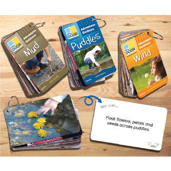 Adventure Outdoors Washable Idea Cards - Mud, Wind & Puddles, Set of 3 Packs