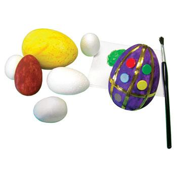 Polystyrene Shapes, Eggs, Pack of 30
