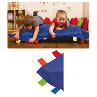 Sensory Touch Tags Bean Bag - Blue, Each