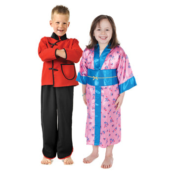 Multicultural Costumes, Far Eastern Boy and Girl, Set