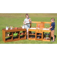 Indoor & Outdoor Play Range, Outdoor Cooking Range, Bench, Each