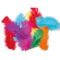 Collage, Feathers, Brights, Pack of 50g
