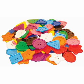 Assorted Large Buttons, Age 4+, Pack of 90 Pieces Approx.