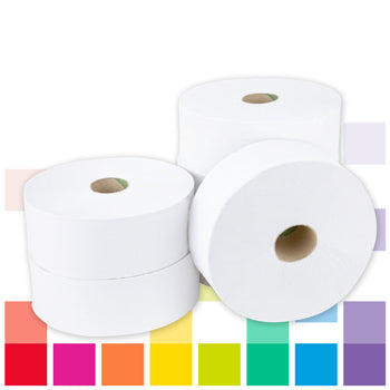 Jumbo Toilet Rolls, 2 Ply, 77Mm Core, Case of 6 Rolls