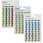 Stickers, Motivation & Reward, Stars, 13mm Wide, Silver, Pack of 2700