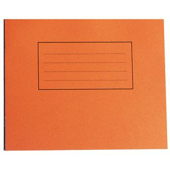 Exercise Books, Premium Range, 6 1/2 x 8'' (165 x 203mm Landscape), 40 Pages - 6 x Music Staves, Orange, Pack of 50