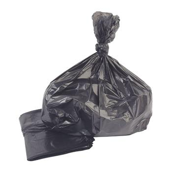 Refuse Sacks, Black, Rolls, 90 Litres
