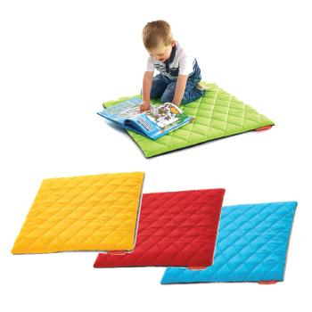 Quilted Outdoor Furniture, Square Mats, Set of 4