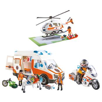 Playmobil Emergency Vehicle Set