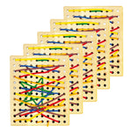Lacing & Patterns, Wooden Threading Board, Age 3+, Set of 5
