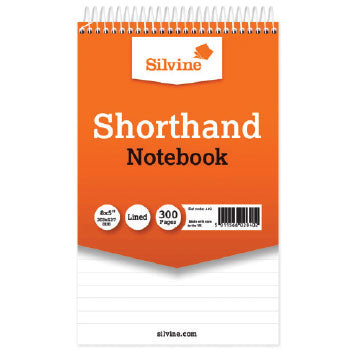 Shorthand Notebooks, Spiral Bound At Head, 203 x 127Mm, 300 Pages (150 Sheets), Pack of 5