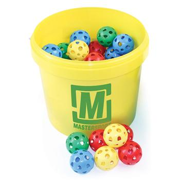 Airflow Perforated Plastic Balls, Bucket, 62Mm Diameter, Bucket of 48