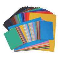 Paper and Board Bulk Pack, Assorted Paper & Card, Pack of 530 Sheets