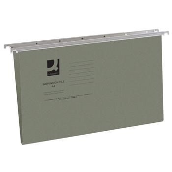 Manilla Foolscap Suspension Files, Standard Capacity, Green