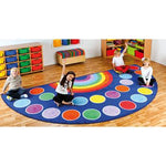 Kit For Kids, Rainbow(TM) Placement Carpets, Large Semi Circle, 2000 x 4000mm, Each