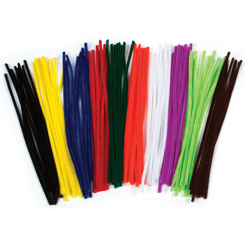 Pipe Cleaners, Assorted Colours, Pack of 100